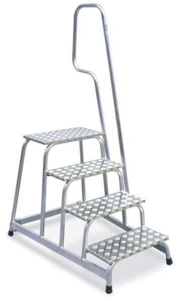 montage treppe alu h 800mm 4 stufen inkl podest stufen riffelblech rollen handl ve 1. Black Bedroom Furniture Sets. Home Design Ideas