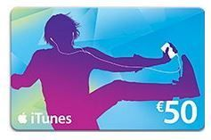 itunes Geschenkkarte Musik 50,00 €