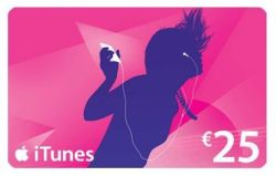 itunes Geschenkkarte Apps 25,00 €