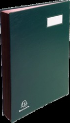 EXACOMPTA Unterschriftenmappe/57023E 330 x 240 mm 20-teilig grün