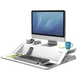 Fellowes® Lotus™ Sitz-Steh Workstation/0009901 weiß