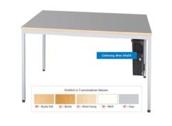 EDV-Tisch, 90 cm/EDV 80-9B grau Grau.